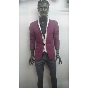 Saco De Hombre Color Vino Para Vestir