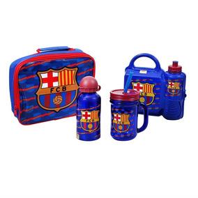 Lonchera Niño Futbol Barcelona Con Termo Y Vaso 8f3a3da0f1d