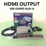 Consola Retro Hdmi 600 Juegos Incorporados, Dos Controles