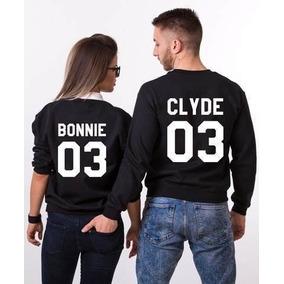 Dúo Sudaderas Sin Gorro P/pareja Bonnie Y Clyde