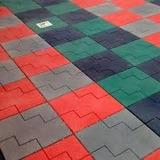 Piso Borracha Reciclada Academias E Playgrounds 50x50 15 Mm