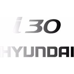 Emblema Adesivo Hyundai I30 Vinil Aço Escovado +frete Grátis