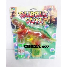 Burbujero Pistola Dinosaurio C Luces Sonido + Liquido Burb