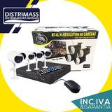 Kit Cctv 4 Camaras Vision Nocturna Seguridad En Tiempo Real