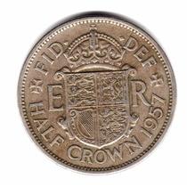 Inglaterra Gran Bretaña Moneda Half Crown 1957 Km#907