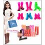 Kit Lote C/ 10 Sapatos P/ Boneca Barbie P/ Crianças Menores