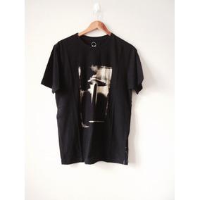 Camiseta Masculina Preta Estampa Estilizada Blusa Moda Homem