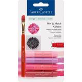 Crayon Acuarelable Gelatos Faber Castell Set Rojo Rosa