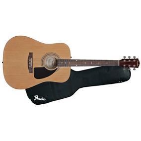 Guitarra Acústica Fender Cuerdas De Acero Con Funda