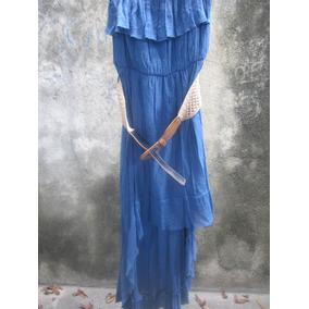 Vestido Azul Marino De Cola. Fresco Y Casual. Marca Shasa