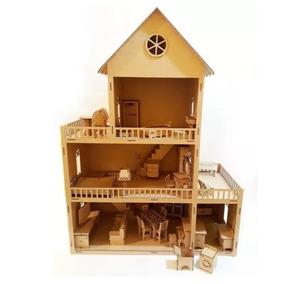 Casa Casinha Bonecas Barbie Pocket Polly C Moveis Mdf