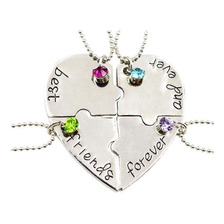 Set 4 Collares Corazón Best Friends For Ever And Ever