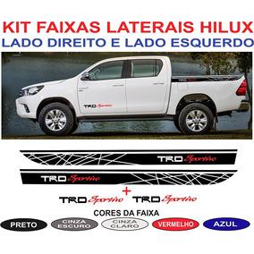 Acessorios Par Adesivos Caçamba Toyota Hilux Trd 2016 2017