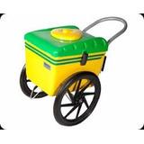 Carrinho De Picolé Sacole Sorvete Picolé Verde E Amarelo