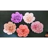 Rosas/flores De Cartulina/papel Para Colgar. Decoración.