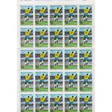 Folha Inteira Com 25 Selos Comemorativos 1.000 Gols Do Pelé