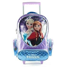 Mochila Con Carrito Nena Frozen Elsa Anna 17´ Lic Original