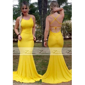 Vestidos de renda amarelo mercadolivre