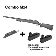 Rifle Airsoft Rossi Sniper M24 Storm C/ 2 Mags Extras Kpp