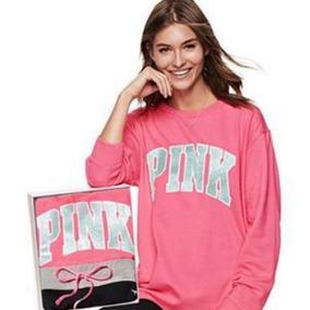 Victorias Secret Set Pantalonera Y Sudadera Pink Amyglo