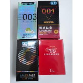 Kit Camisinhas Preservativos Okamoto Ponto G 001 E 002