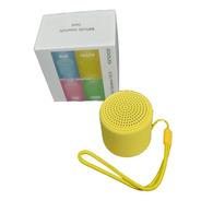 Caixa Som Bluetooth Tws Silicone Mini Speaker 3w Amarelo