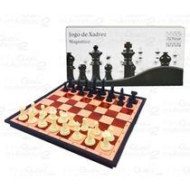 Tabuleiro Xadrez Com Imã Estojo Dobrável C/ 32 Peças - Jogos