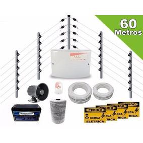 Kit Cerca Eletrica Industrial 60m C/ Big Hastes Gcp