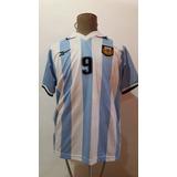 Camiseta Argentina Reebok 1999 M 9 Martin Palermo Impecable