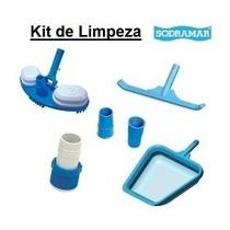Kit Limpeza Sodramar + 5m Mangueira + Estojo Teste Ph/cloro