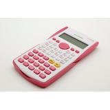 Calculadora Científica Digital De Mesa Finanças- Fx82ms Rosa