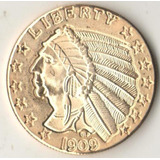 Copia Morocota De Indio 1909