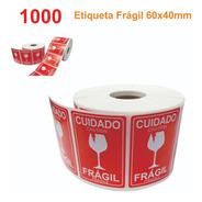 Etiqueta Fragil 6x4 Cm Selo Auto Colante 1.000 Un