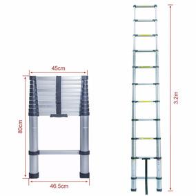 Escalera Telescópica 3.2m 10.5 Ft Retráctil Funda De Regalo