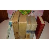 Lote De 6 Libros Antiguos Completos En Pasta Dura