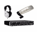 Kit Behringuer Interface202hd+ Microfono C1+ Audifonos+envio