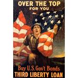Jovem Soldado Exército Bandeira Usa 1 2 Guerra Poster Repro