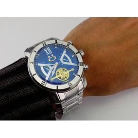 a3b6a0b3c41 Relogios Masculinos Azul Prata - Joias e Relógios no Mercado Livre ...
