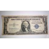 Billete Dolar De Plata Sello Azul 1935