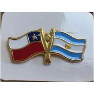Pin Bandera Chilena Y Argentina Entrelazadas