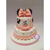 Torta De Minnie - Ideal Para Cumpleaños Infantiles