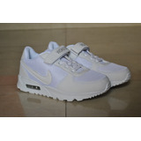 Kp3 Zapatos Nike Air Max 90 Todo Blanco Para Niños Unisex