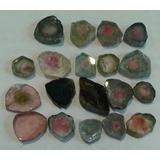 Mineral Roca Cristales Pulidos Turmalinas Sandía X Unidad
