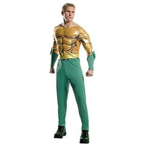Disfraz Para Hombre De Aquaman Rubie`s Color Oro, Verde