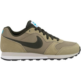 Tenis Nike Md Runner 2 Verde Militar Junior 22.5-25 Original
