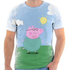 Camiseta Camisa Personalizada Peppa Pig Papai Pig Desenho