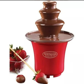 Nostalgia Electric Mini Fuente De Chocolate Color Roja