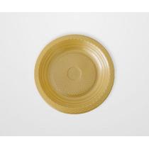 Prato Plastico 15 Cm Dourado 10 Unidades