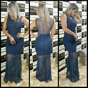 Vestido Longo Roupas Femininas Com Renda Fique Linda Top