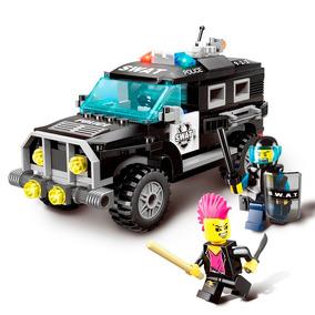 Carro De Polícia Da Swat Com Bonecos E Armas - Disponível